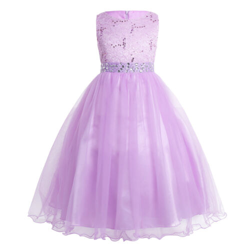 Flower Girl Dress Sequins Formal Wedding Bridesmaid Graduation Pageant Dress US!
