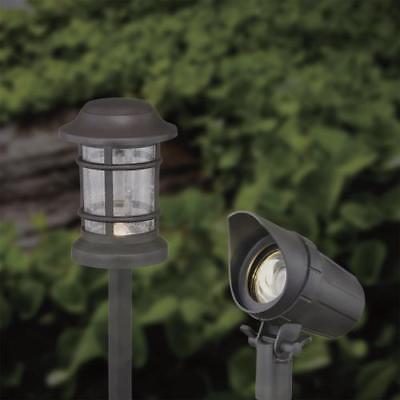 Set Of 8 Low Voltage Led Spot Path Lights Seeded Glass Lens Landscape Light Kit Ebay