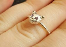 Cute Silver Cat Ring Animal Jewellery FREE POSTAGE