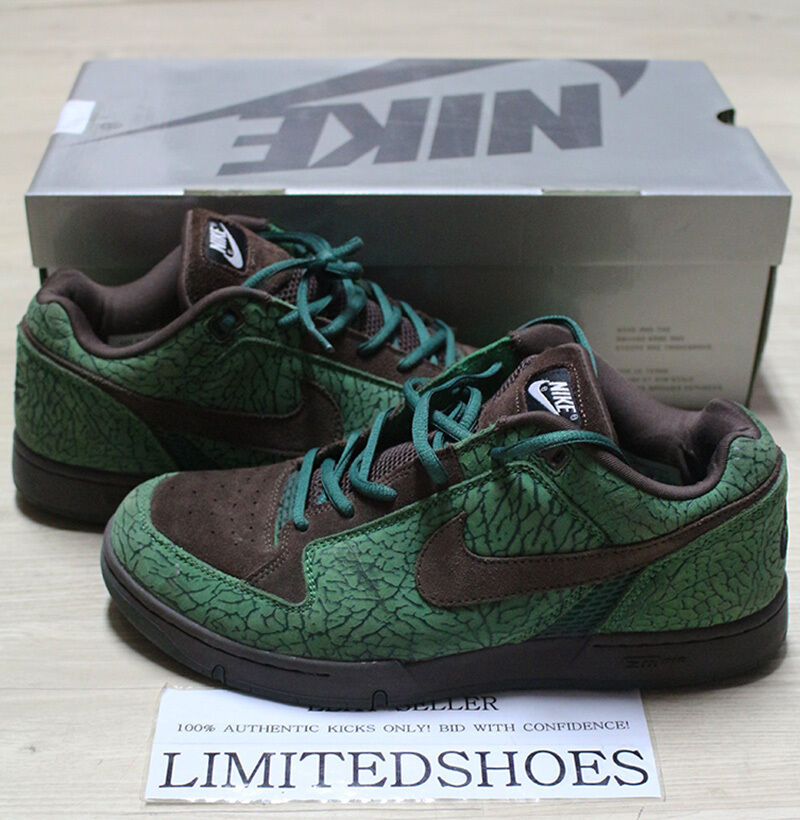 NIKE ZOOM AIR ANGUS DOERNBECHER DB CLASSIC GREEN BROWN  307247-311 US 11.5 SIZE