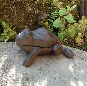 Schl sselversteck gusseisen frosch gartendeko versteck landhaus schl ssel lh140 ebay - Gartendeko gusseisen ...