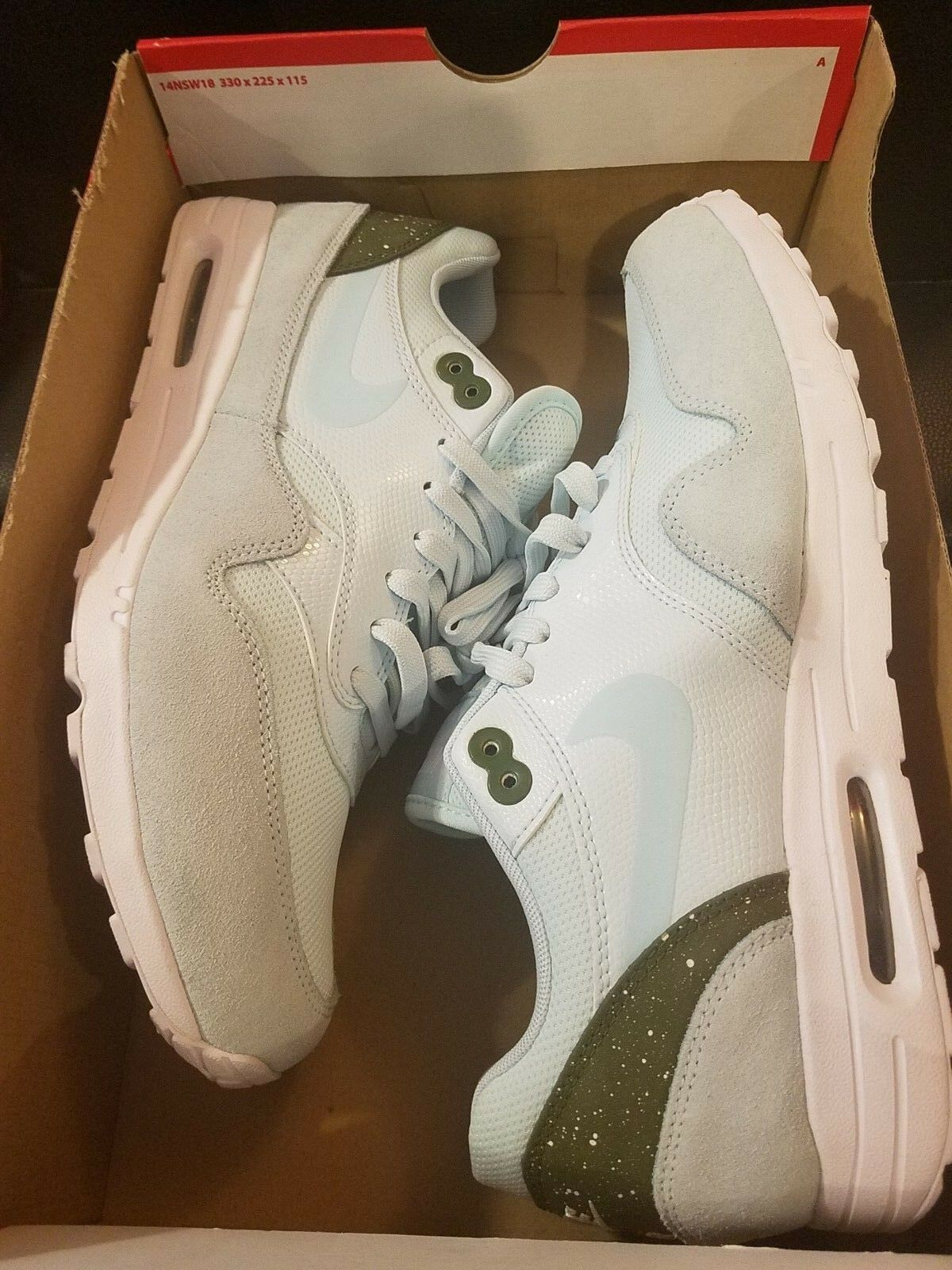 Brand New Womens Nike Air Max 1 Ultra 2.0 881104-400 Glacier Blue Size 12