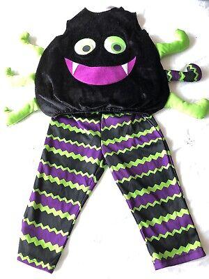 Costume Spider George Ragazzi 1-2 Anni Top Pantaloni Denti Nero Occhi Gambe-mostra Il Titolo Originale