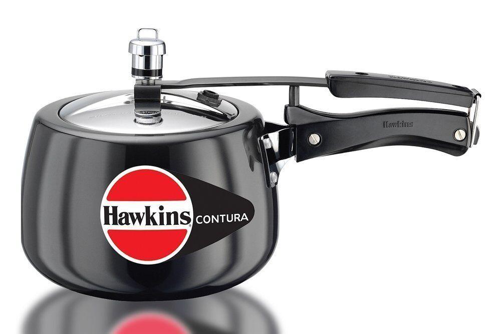 Hawkins Contura Dur Aluminium Anodisé Autocuiseur, 3 litres, noir
