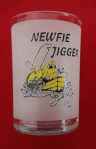 """Newfie Jigger. Measuring Shot Glass. For that Down East Screech. 4"""" tall"""