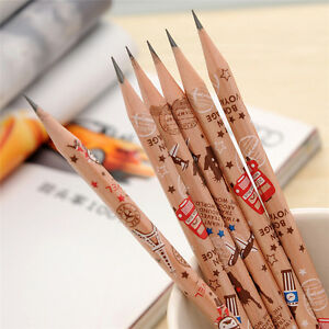 12-pcs-Cute-Pencil-Bon-Voyage-HB-School-Novelty-Writing-Wooden-Pencil-Kids-ue