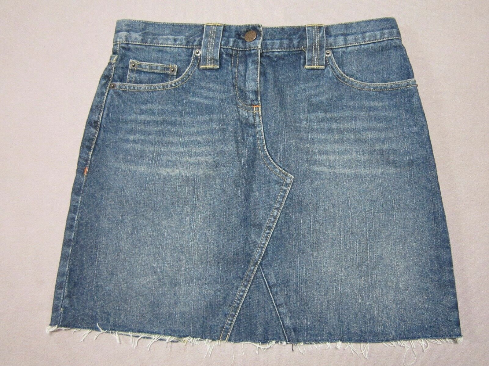 J.CREW WOMENS MEDIUM blueE CLASSY DENIM JEAN PENCIL SKIRT SIZE 28 NEW