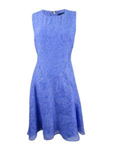 Tommy-Hilfiger-Women-039-s-Floral-Print-A-Line-Dress-10-Periwinkle