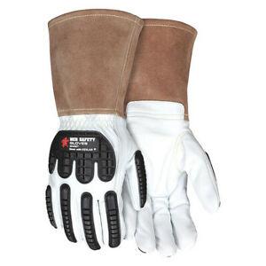 Mcr Safety 48406Tl Leather Gloves,White,L,Pk12
