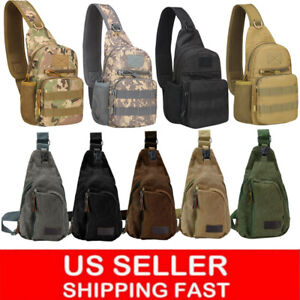 Men-Backpack-Molle-Tactical-Sling-Chest-Pack-Shoulder-Bag-Outdoor-Hiking-Travel