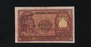 100 Lire Italia Elmata Decr 31-12-1951 Nvgpdawu-08001229-552659769