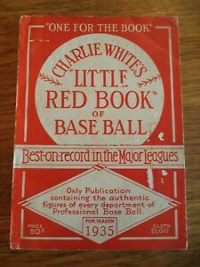 1935-CHARLIE-WHITE-039-S-LITTLE-RED-BOOK-OF-BASEBALL