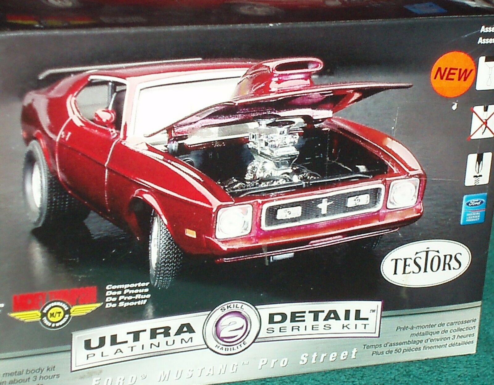 Testor's 1971 Ford Mustang Mach 1 Pro Street Modelo Kit de Sellado de habilidades 1 24 2
