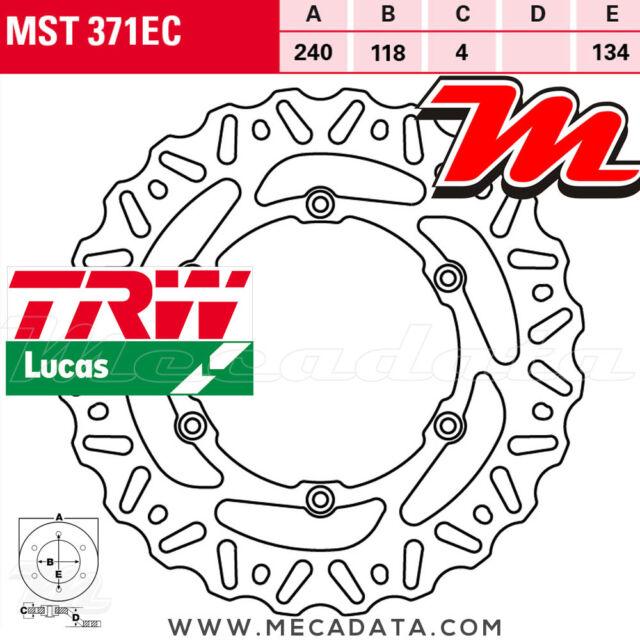 Disque de frein Arrière TRW Lucas MST 371 EC Suzuki RM 125 2006