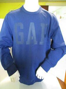 Details about NWT GAP Mens Sz. Medium Crewneck Pullover Sweatshirt Royal Blue