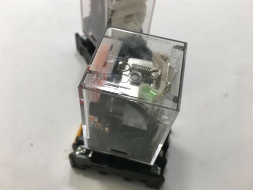 10 A// 240 Vac 24 Vdc Coil Ge Cr420Kpc0224 Ice Cube Relay W// Base Lot Of 2--