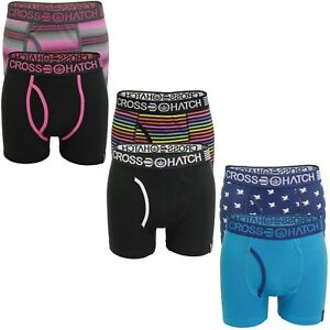 Mens Boxer Shorts/ Trunks by Crosshatch (2 Pack)