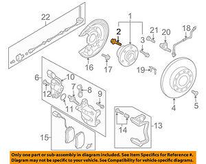 vw volkswagen oem beetle brake front wheel hub \u0026 bearing mount boltimage is loading vw volkswagen oem beetle brake front wheel hub