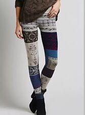 NWT Free People Hendrix Patchwork Boho Alpine Festival Sweater Leggings Sz Xs
