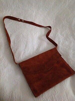 mehrzwecktasche: Clutch, Schulter-, Handtasche aus Wildleder, Hand made