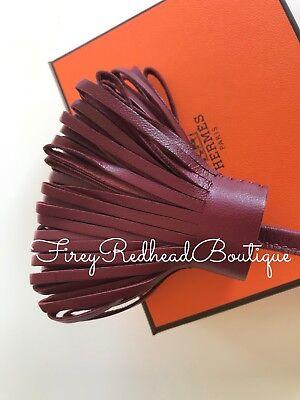Analitico Hermès Carmen Portachiavi/bag Charm-rouge H Con Il Palladio H/w-nuova Con Etichetta!-mostra Il Titolo Originale Styling Aggiornato