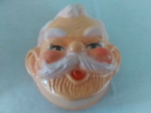 "Lot of 12 VTG 4/"" Celluloid Plastic Santa Claus Doll Masks Faces Christmas Crafts"
