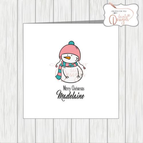 Person Gay Pride LGBT Personalised Transgender Flag Christmas Card Snowman