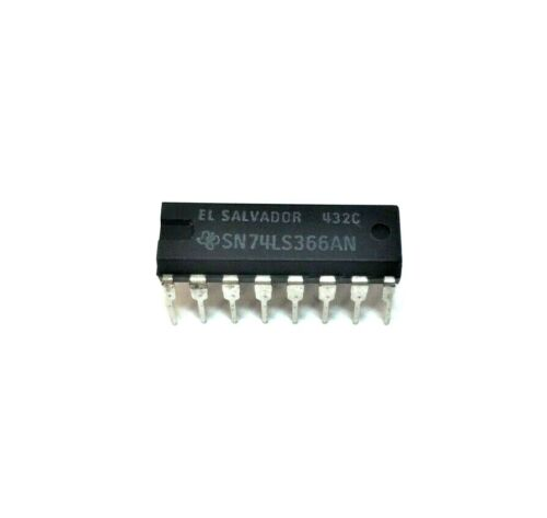 Phillips ECG-74LS366A Hex Bus Driver With 3 State Outputs 16-Pin DIP TTL IC NOS