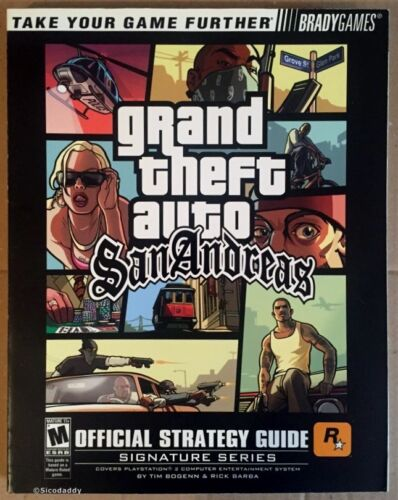 1 of 1 - Grand Theft Auto: San Andreas, Brady Strategy Guide, New & Excellent Condition