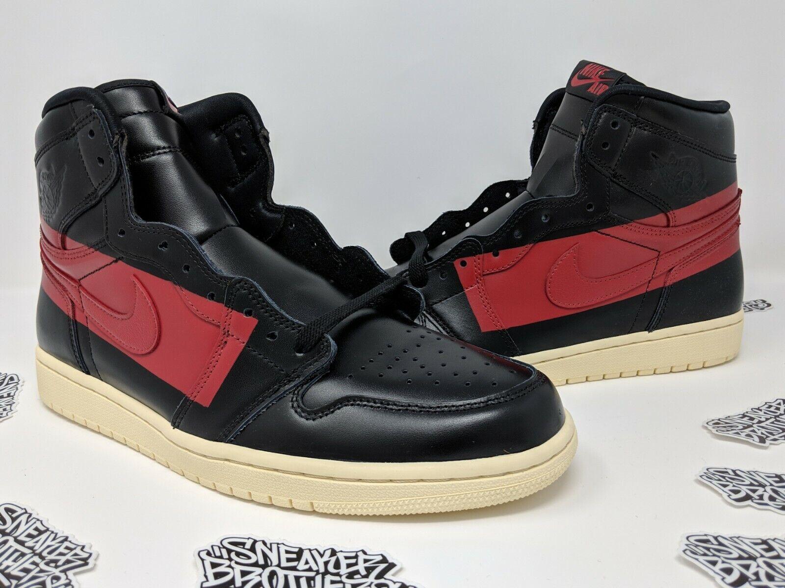 Nike Air Jordan Retro I 1 High OG Defiant Couture Black Gym Red BQ6682-006