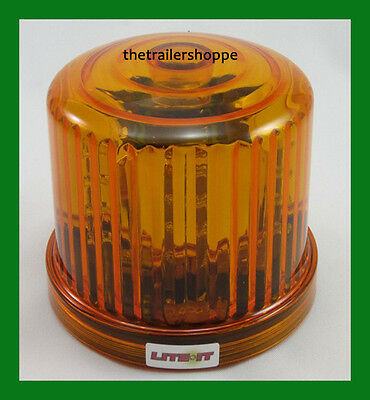 12V Battery Operated Amber 18 LED Beacon Flashing Light Warning Magnetic Mount