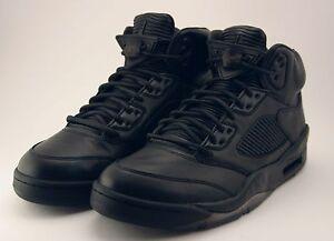 19cf293b812 Air Jordan 5 V Retro Premium Size 11 Triple Black Pinnacle LUX ...