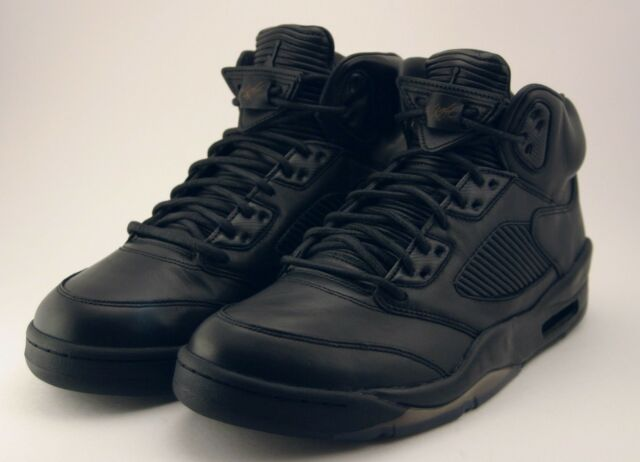 check out 27a47 cf596 Air Jordan 5 V Retro Premium Size 11 Triple Black Pinnacle LUX 881432-010 DS