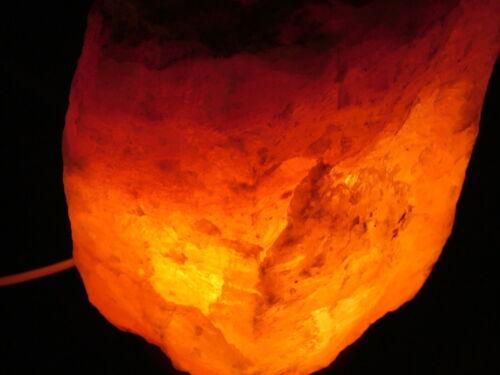 LAMPADA DI SALE HIMALAYANO ARREDO SALT LAMP LANTERNA ATMOSFERA ETNICO CM 17//21