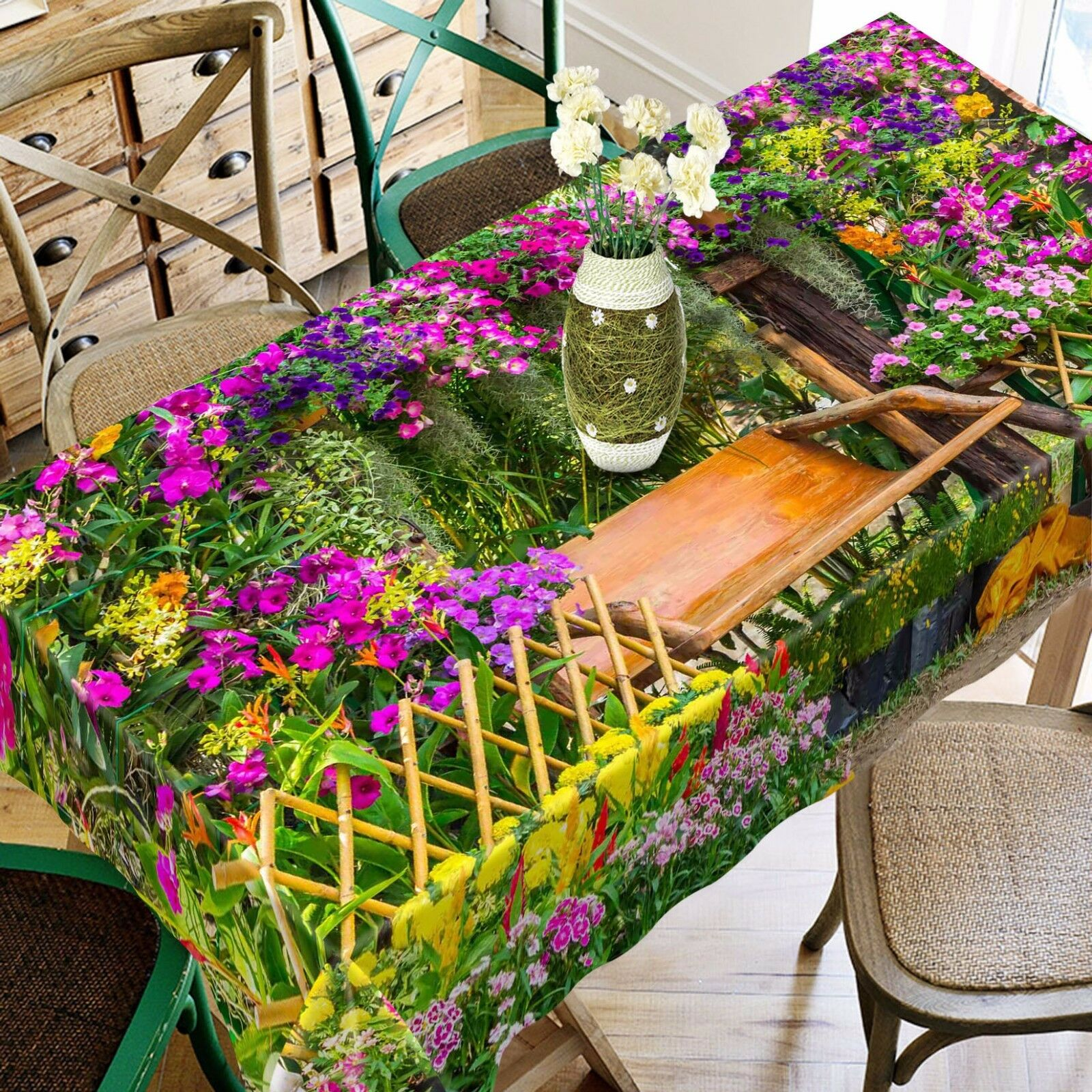 3D Garden View 41 Tablecloth Table Cover Cloth Birthday Party Event AJ WALLPAPER