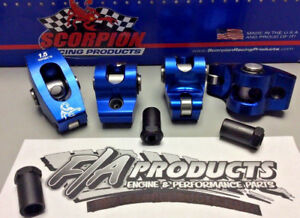 SCORPION PERFORMANCE 1001 SBC Roller Rocker Arms 1.5 Ratio 7//16 Stud