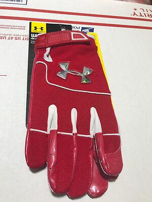Badminton Sport Radient Under Armour Attack Fähigkeit Spieler Fußball Handschuhe 1234139-600 Größe Xl Terrific Value