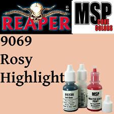 ROSY HIGHLIGHT 9069 -MSP 15ml 1/2oz paint pot peinture figurine REAPER MINIATURE