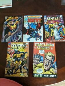 Modern-Age-Comics-Lot-of-2-The-Sentry-Startling-Stories-NM