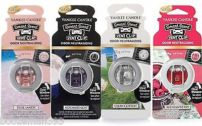 Yankee Candle Smart Scent Vent Clips Car Air Freshener  - New For  Autumn 2016