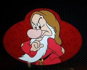 Disney-Parks-Grumpy-Cast-Member-Name-Tag-Car-Auto-Magnet-NEW-World-7-Dwarfs