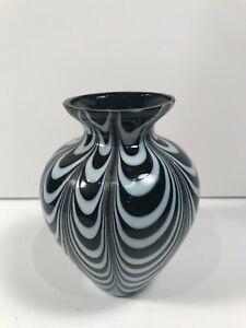 Black And White Gl Art Vase 5 Ebay
