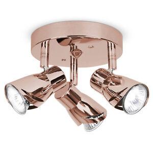 ceiling spot lighting. image is loading moderncopperrosegold3wayceilingspot ceiling spot lighting