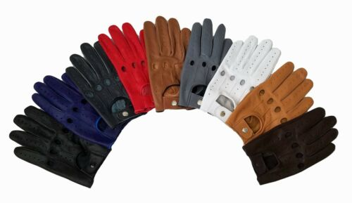 NEW LEATHER DRIVING  RIDING BIKER CYCLING GLOVES