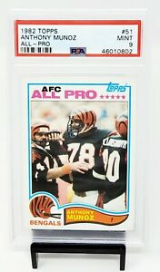 1982-Topps-HOF-Bengals-ANTHONY-MUNOZ-Rookie-Football-Card-PSA-9-MINT-Low-Pop
