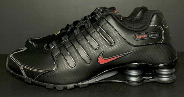 Nike Shox NZ EU Mens Running Shoes 378341-017 Black Red