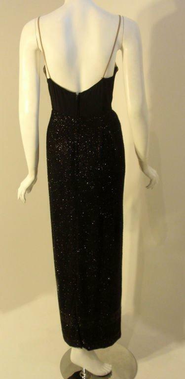 CEIL CHAPMAN 1960s Vintage 2 pc Black Beaded Gown - image 5