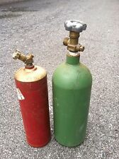 10 CUBIC FOOT ACETYLENE AND 20 CUBIC FOOT OXYGEN TANKS USED