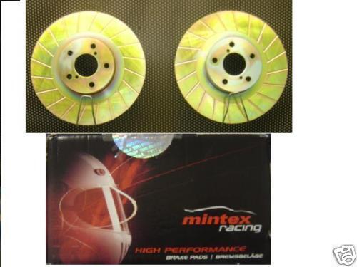 Para Subaru Impreza Wrx acanalado Disco De Freno Mintex Pad m1144