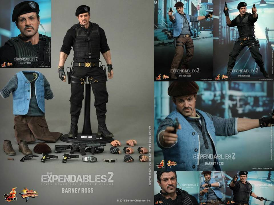 HOT TOYS MMS194 THE EXPENDABLES II Barney Ross BOX SET 1 6 SCALE
